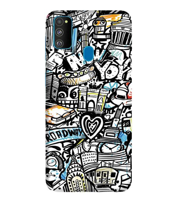 Cool Graffiti Back Cover for Samsung Galaxy M30s