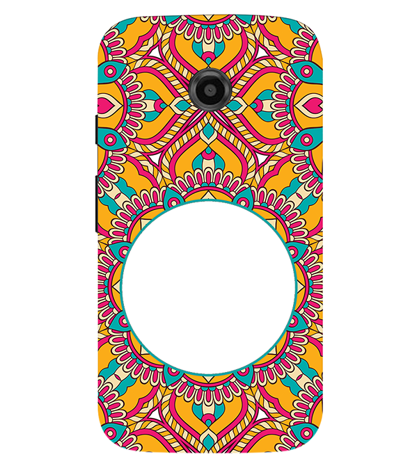 Cool Patterns Photo Back Cover for Motorola Moto E