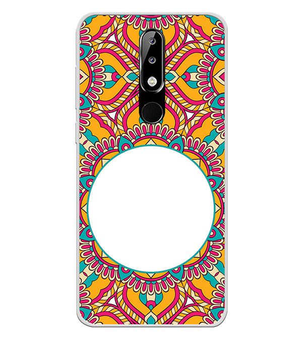 Cool Patterns Photo Back Cover for Nokia 5.1 Plus (Nokia X5)