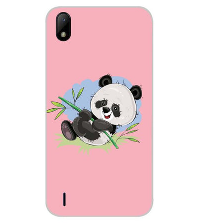 Cute Lovelu Panda Back Cover for Lava Z41