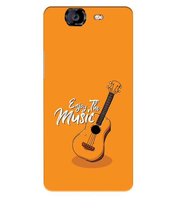 Enjoy the Music Back Cover for Micromax A350 Canvas Knight