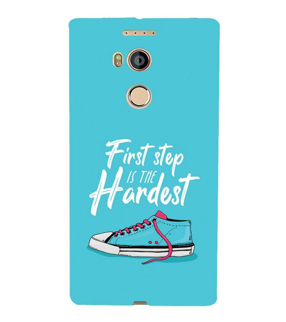 First Step is Hardest Back Cover for Gionee Elife E8