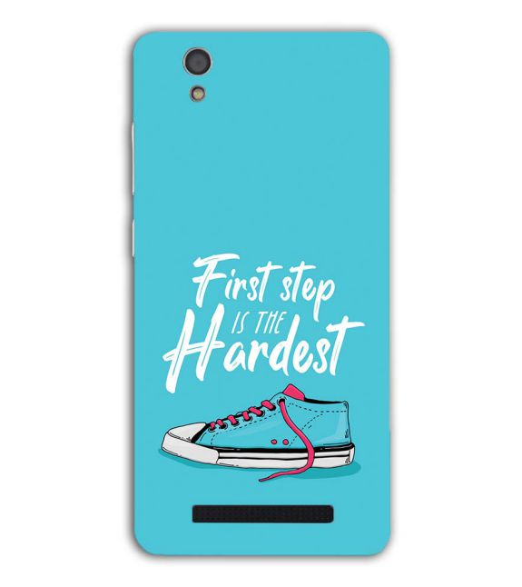 First Step is Hardest Back Cover for Gionee F103