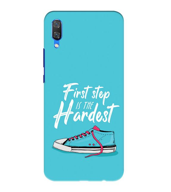 First Step is Hardest Back Cover for Huawei Nova 3