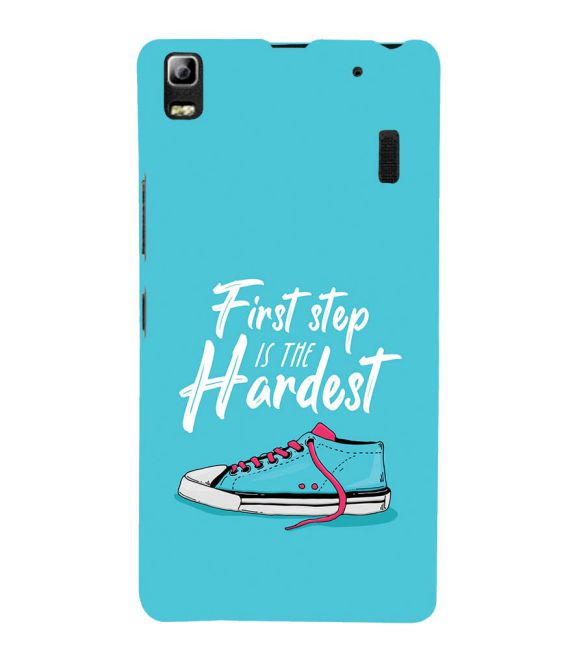First Step is Hardest Back Cover for Lenovo A7000 and K3 Note
