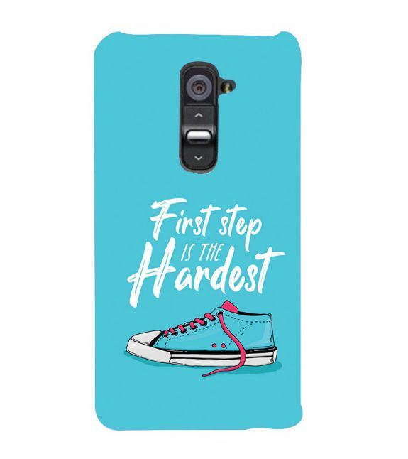 First Step is Hardest Back Cover for LG G2