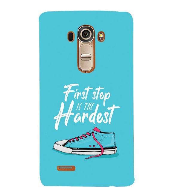 First Step is Hardest Back Cover for LG G4