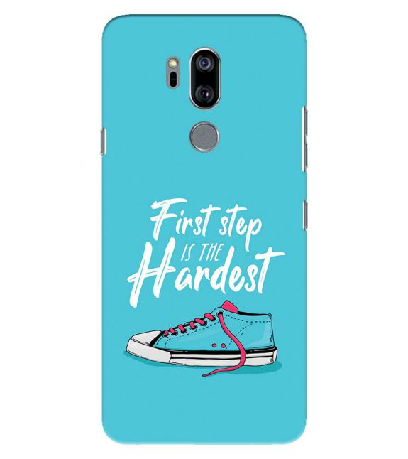 First Step is Hardest Back Cover for LG G7