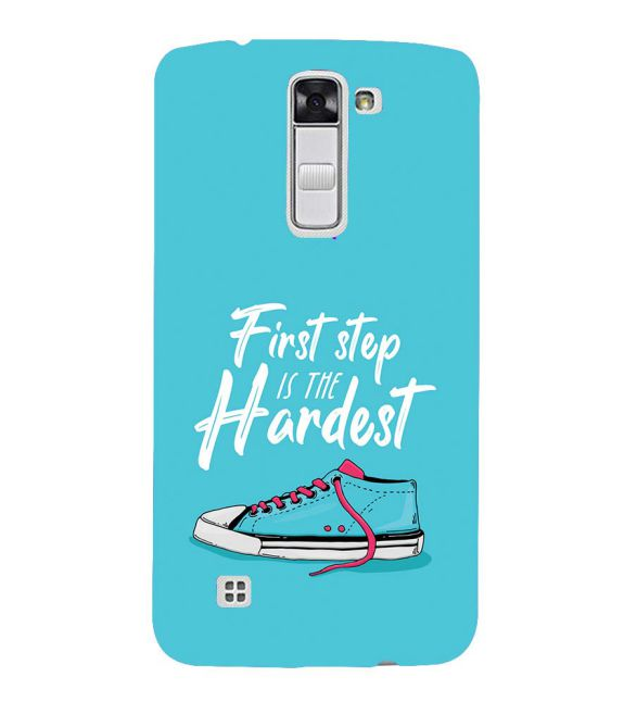 First Step is Hardest Back Cover for LG K10