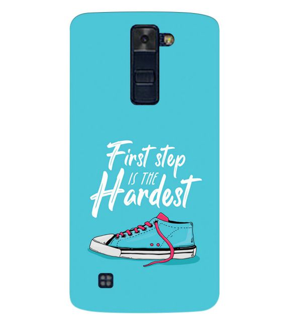 First Step is Hardest Back Cover for LG K8