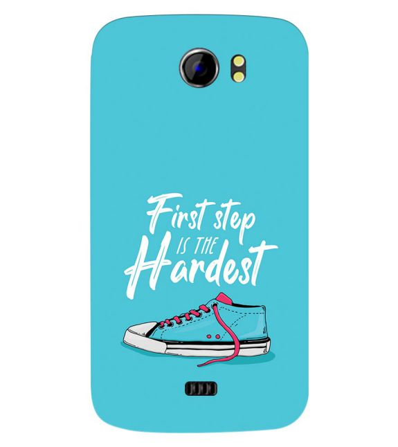 First Step is Hardest Back Cover for Micromax A110 Canvas 2