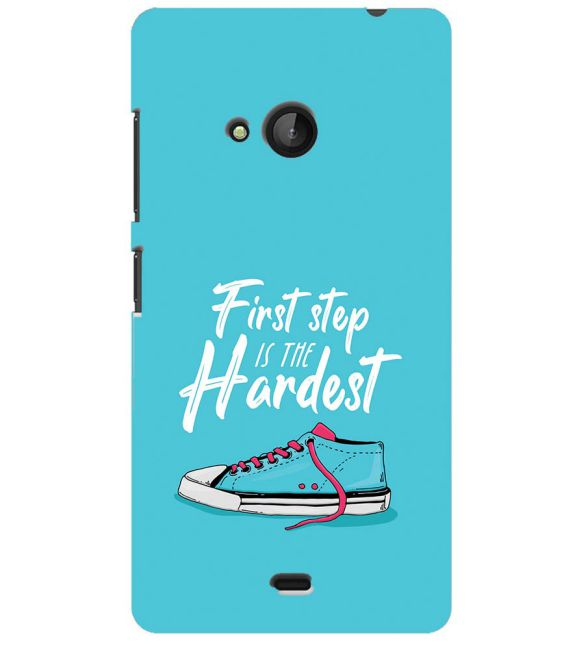 First Step is Hardest Back Cover for Microsoft Lumia 540
