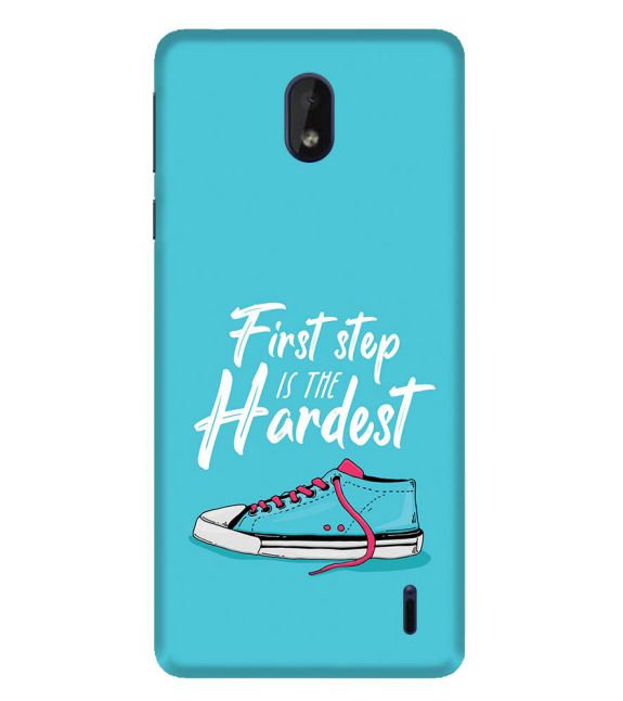 First Step is Hardest Back Cover for Nokia 1 Plus