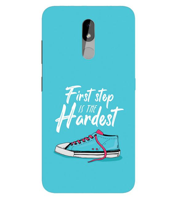 First Step is Hardest Back Cover for Nokia 3.2