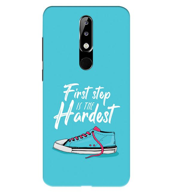 First Step is Hardest Back Cover for Nokia 5.1 Plus (Nokia X5)