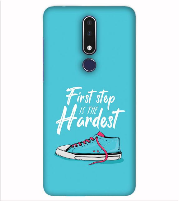 First Step is Hardest Back Cover for Nokia 7.1