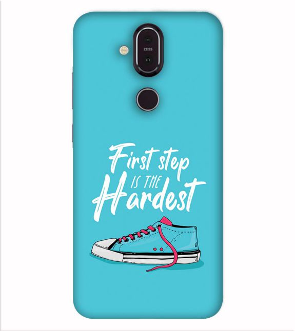 First Step is Hardest Back Cover for Nokia 8.1 (Nokia X7)