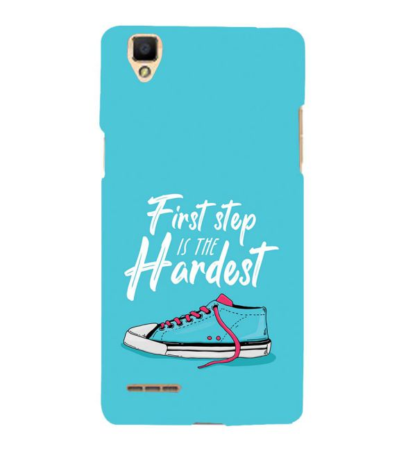 First Step is Hardest Back Cover for Oppo F1