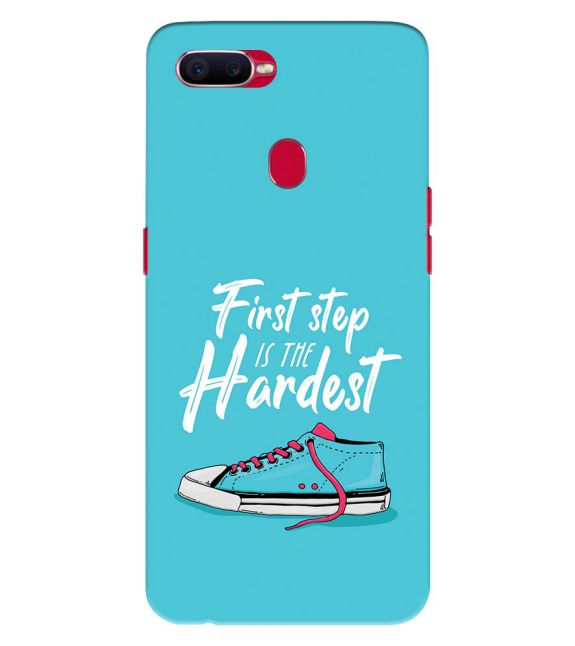 First Step is Hardest Back Cover for Oppo F9 Pro
