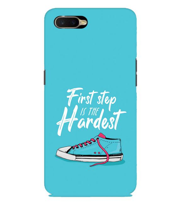 First Step is Hardest Back Cover for Oppo K1