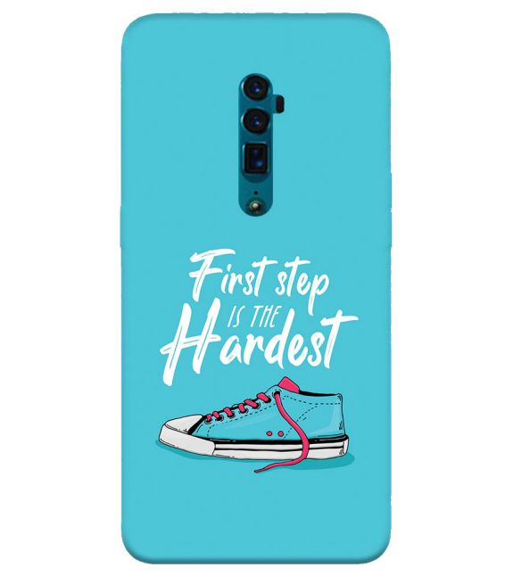 First Step is Hardest Back Cover for Oppo Reno 10x zoom