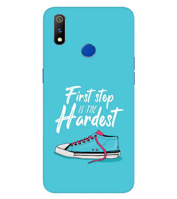 First Step is Hardest Back Cover for Realme 3 Pro