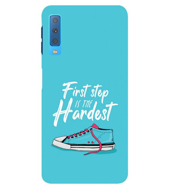 First Step is Hardest Back Cover for Samsung Galaxy A7 (2018)