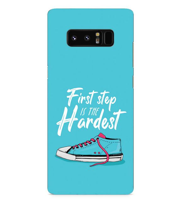 First Step is Hardest Back Cover for Samsung Galaxy Note 8