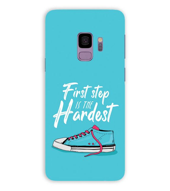 First Step is Hardest Back Cover for Samsung Galaxy S9