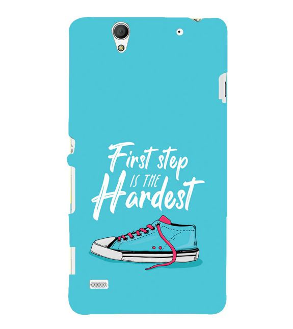 First Step is Hardest Back Cover for Sony Xperia C4
