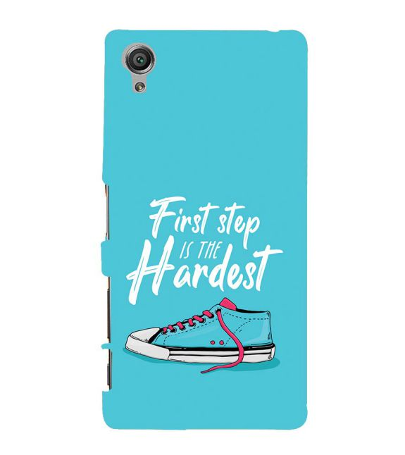 First Step is Hardest Back Cover for Sony Xperia X