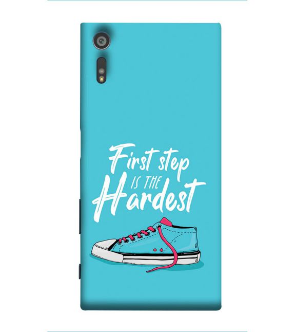 First Step is Hardest Back Cover for Sony Xperia XR