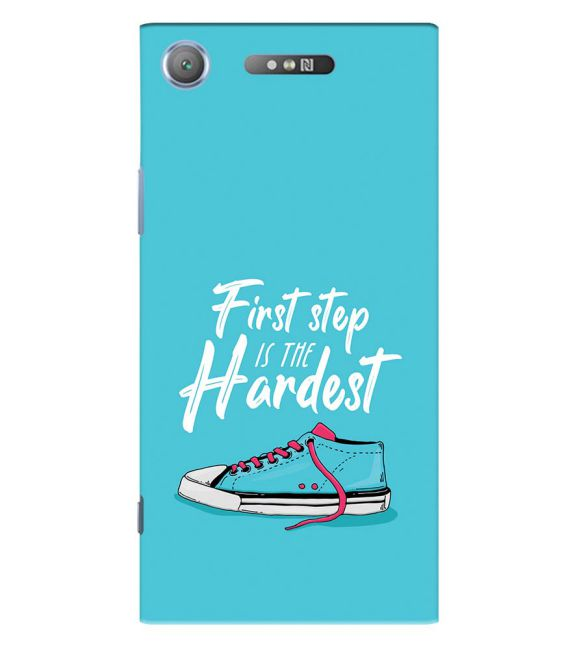 First Step is Hardest Back Cover for Sony Xperia XZ1