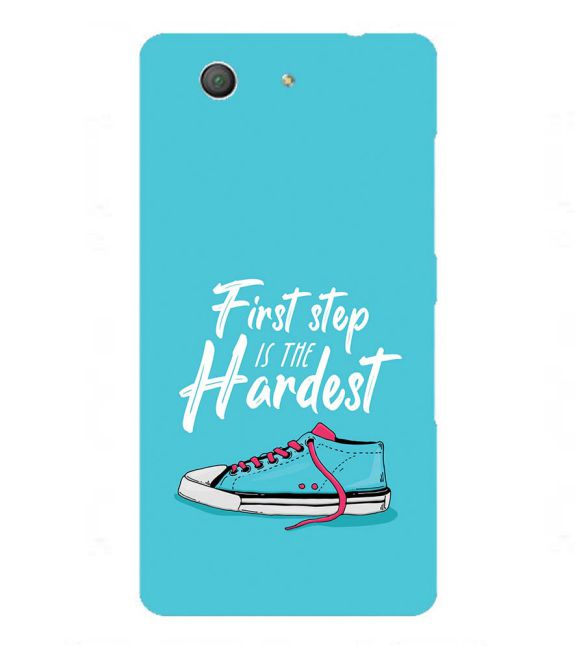 First Step is Hardest Back Cover for Sony Xperia Z3+ and Xperia Z4