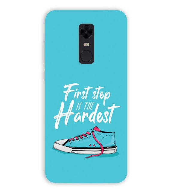 First Step is Hardest Back Cover for Xiaomi Redmi Note 5
