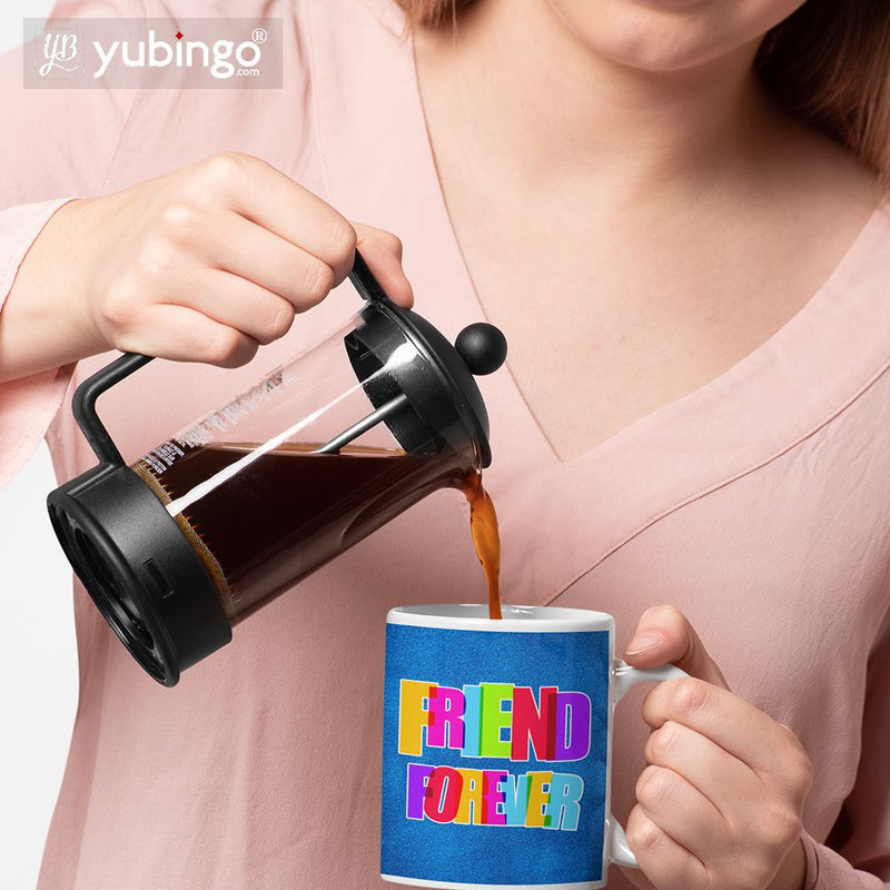 Friend Forever Coffee Mug with Coaster and Keychain