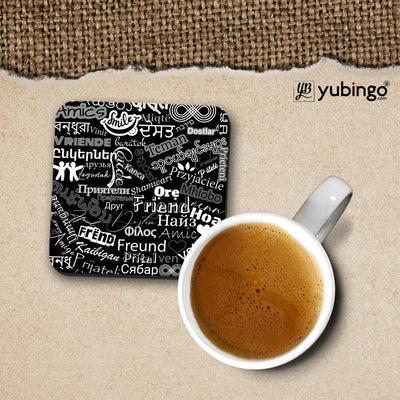 Friend in All Languages Coffee Mug with Coaster and Keychain-Image3