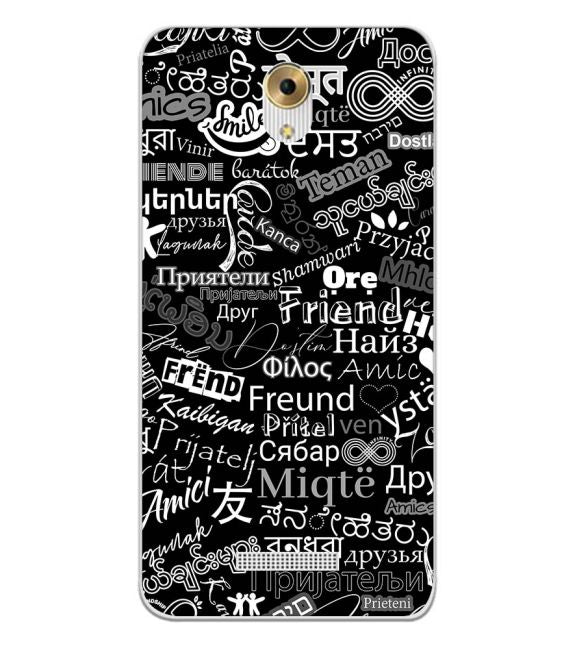 Friend in All Languages Back Cover for Coolpad Mega 5M