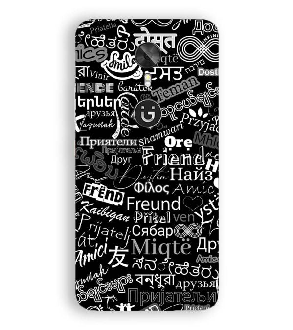 Friend in All Languages Back Cover for Gionee A1