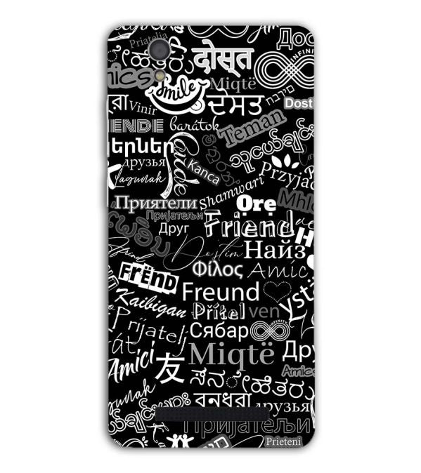 Friend in All Languages Back Cover for Gionee F103