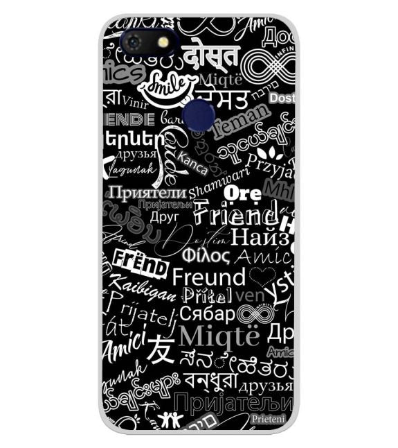 Friend in All Languages Back Cover for Gionee F205 Pro