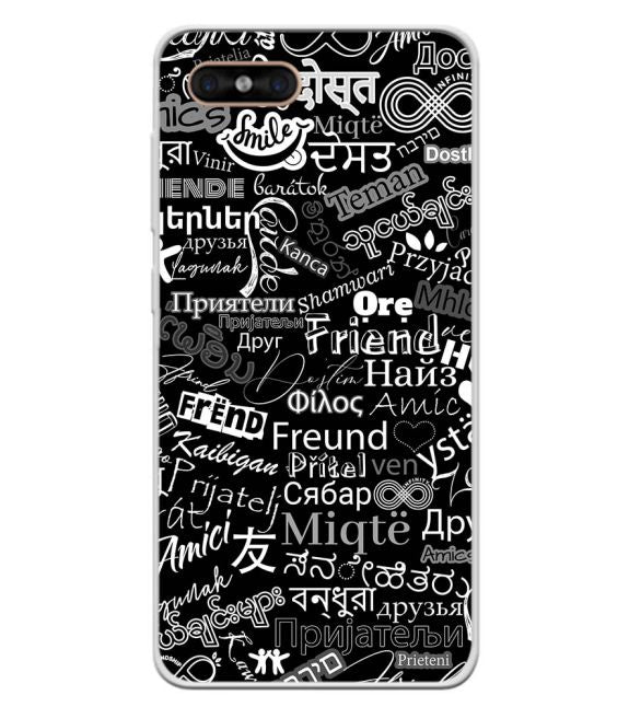 Friend in All Languages Back Cover for Gome C7