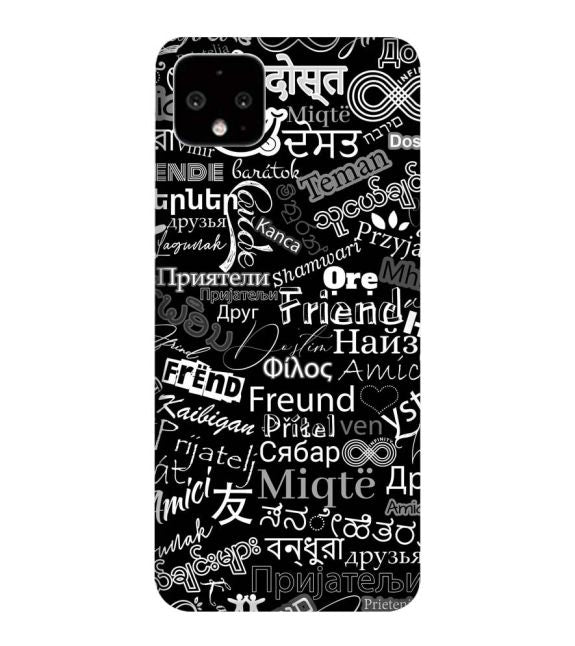 Friend in All Languages Back Cover for Google Pixel 4