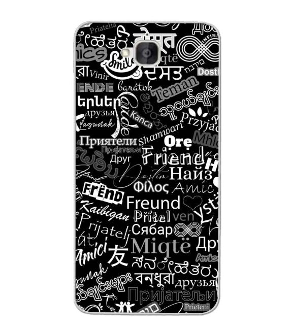 Friend in All Languages Back Cover for Honor Holly 2 Plus