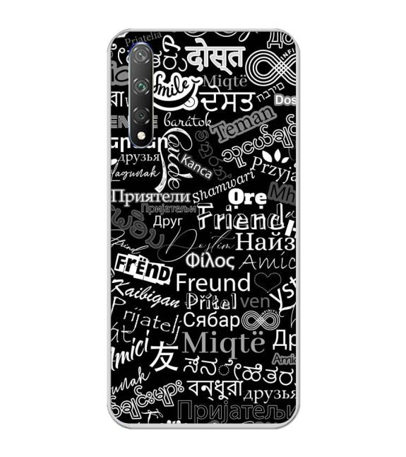 Friend in All Languages Back Cover for Huawei Honor 20s
