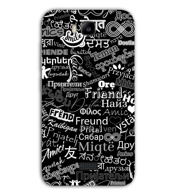Friend in All Languages Back Cover for Huawei Honor Bee