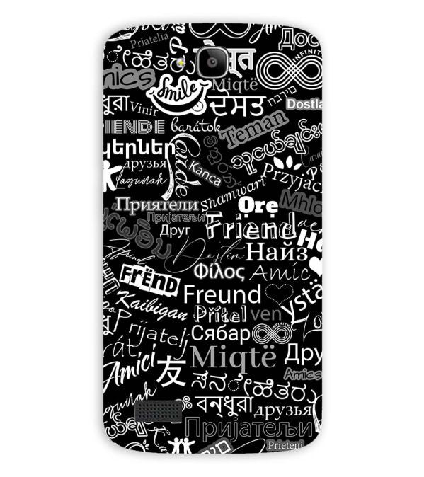 Friend in All Languages Back Cover for Huawei Honor Holly
