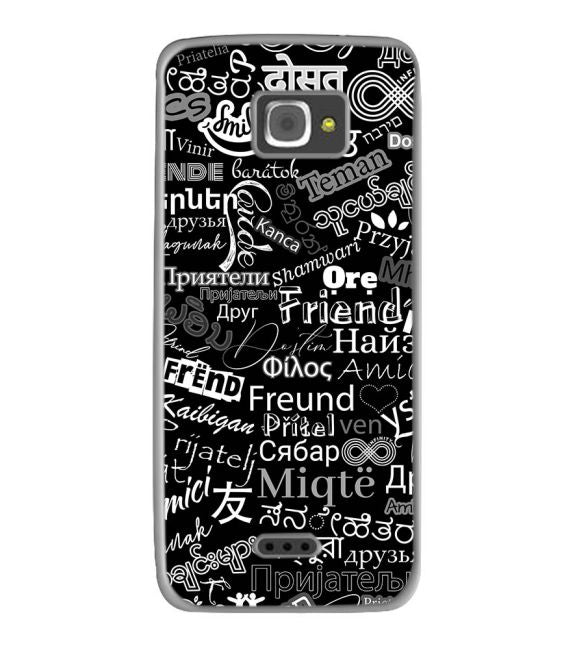 Friend in All Languages Back Cover for InFocus M350