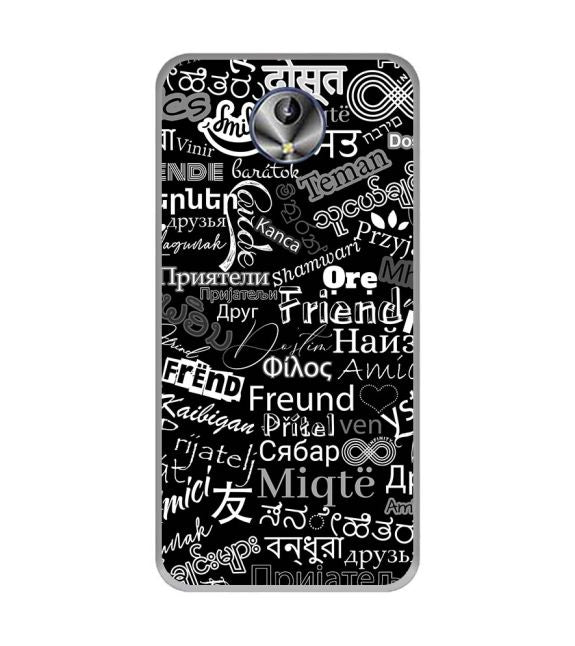 Friend in All Languages Back Cover for Intex Amaze+