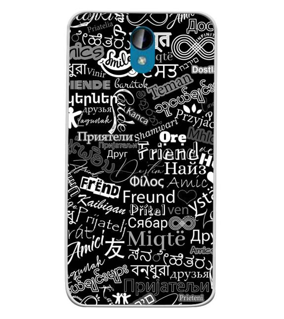 Friend in All Languages Back Cover for Intex Lions 6